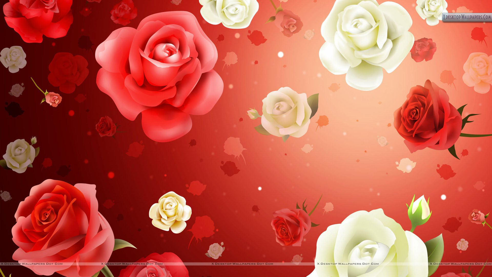 Lots Of 2d Flowers For Valentines Day Wallpaper