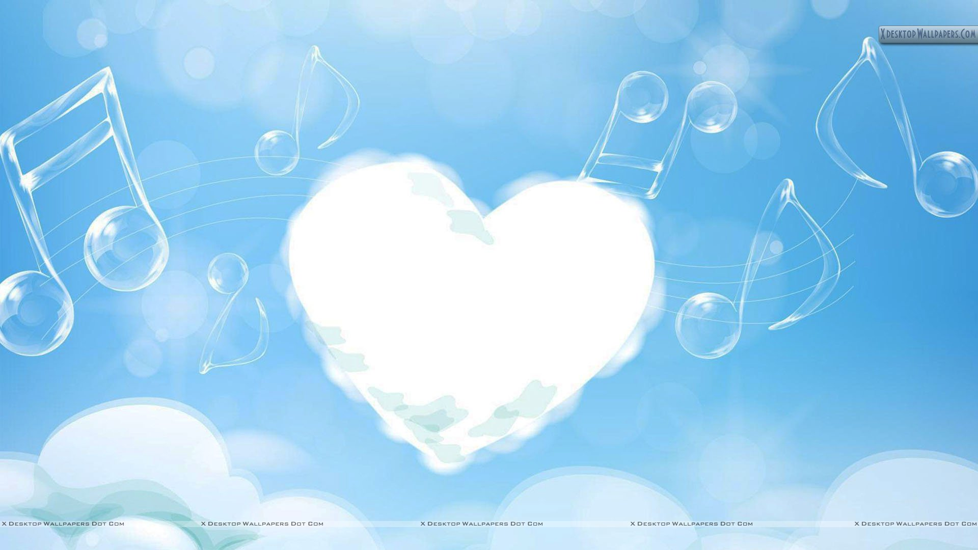 Download Wallpaper Blue Music - White-Cloud-Heart-And-Music-Strings-In-Sky  Graphic_463097.jpg?type\u003ddownload
