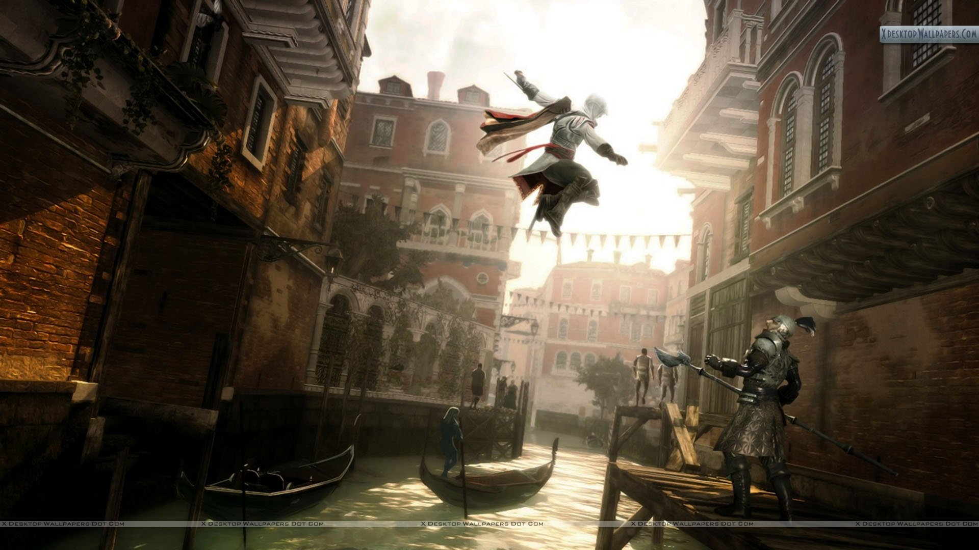 Ezio Assassin S Creed 2 Killing Jump Wallpaper