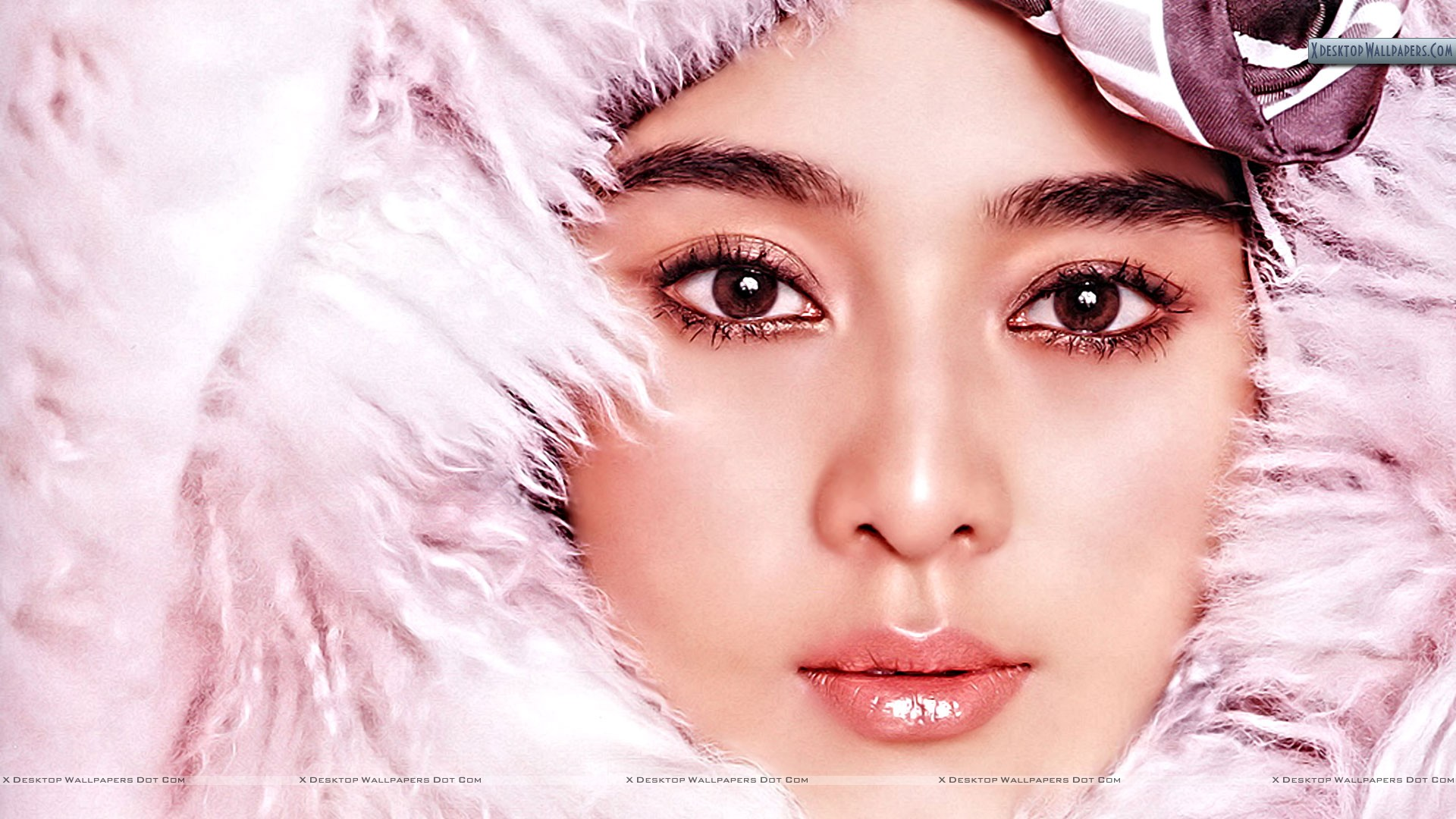 You Are Viewing Wallpaper Titled Japanese Girl In Pink Fur