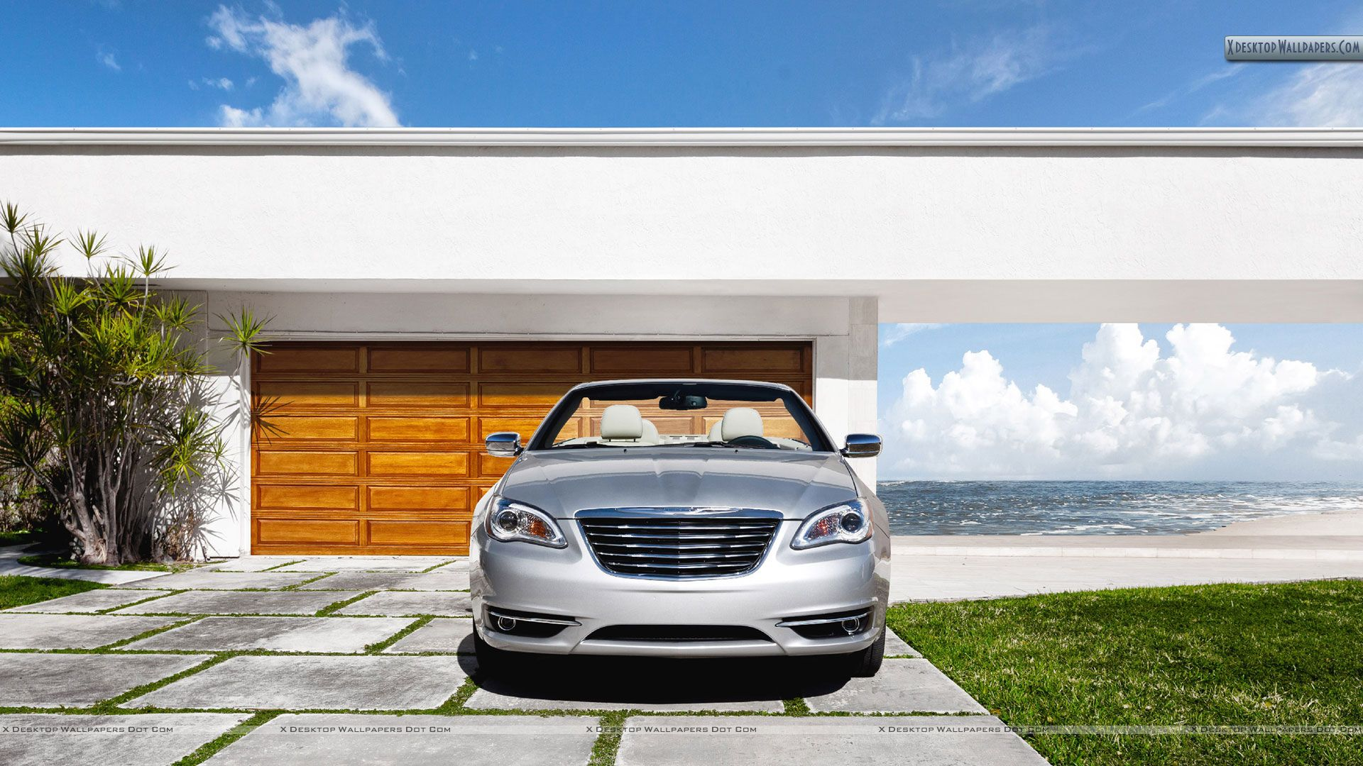 2011 Chrysler 200 Convertible Outside House Wallpaper