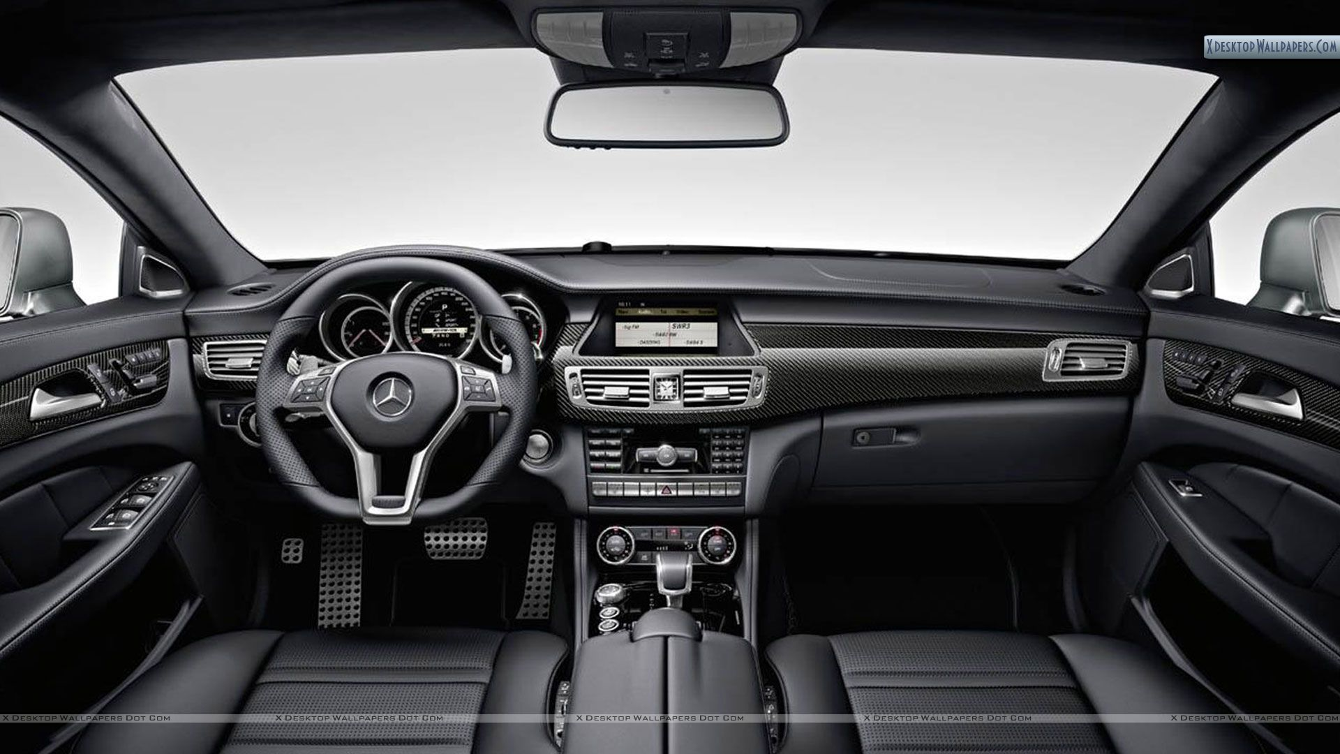 2012 mercedes benz cls63 amg interior shoot wallpaper for Mercedes benz inside view