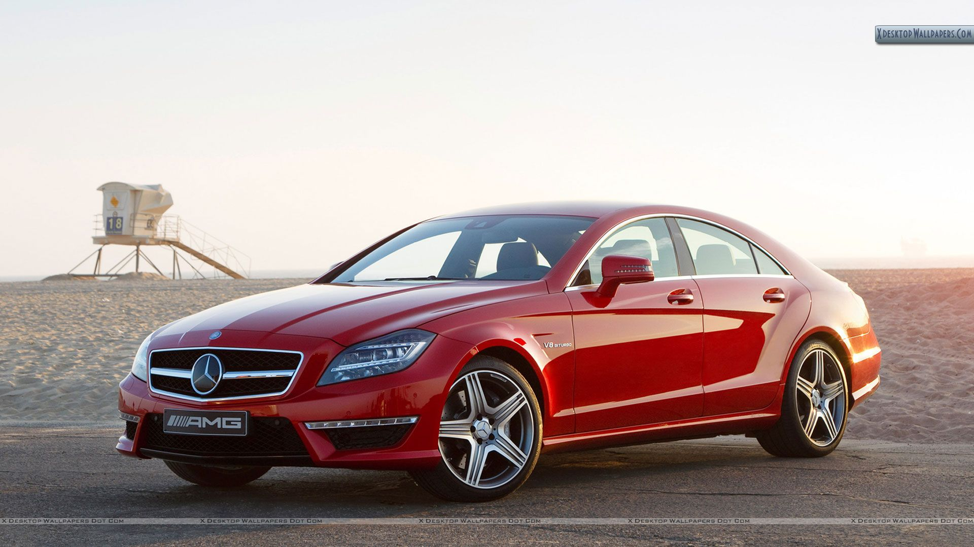 2012 mercedes benz cls63 amg red color wallpaper