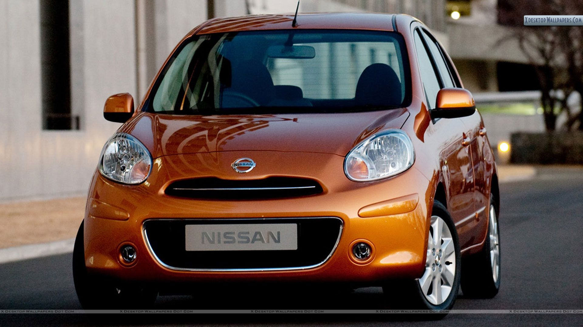 nissan micra tekna 2011 orange front pose wallpaper. Black Bedroom Furniture Sets. Home Design Ideas