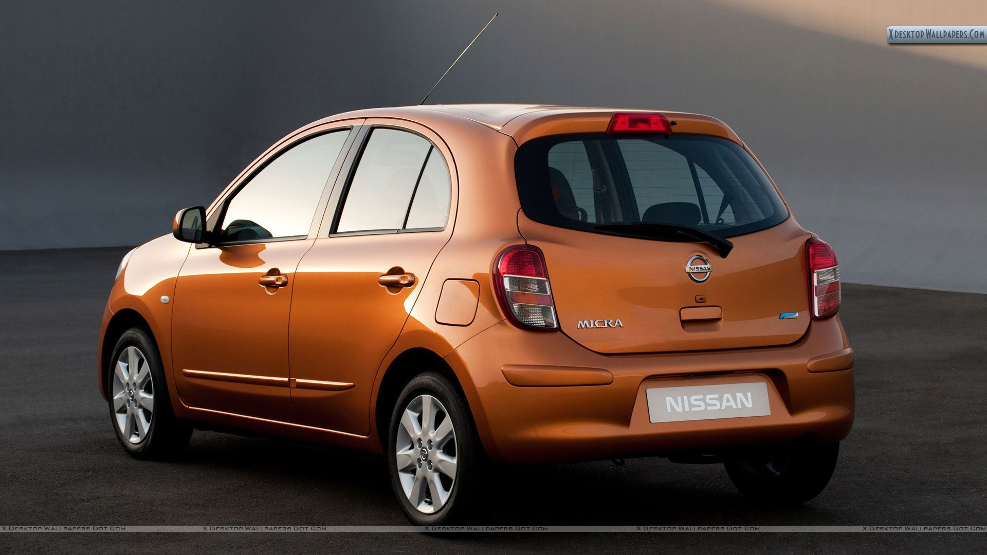 orange nissan micra tekna 2011 back pose wallpaper. Black Bedroom Furniture Sets. Home Design Ideas
