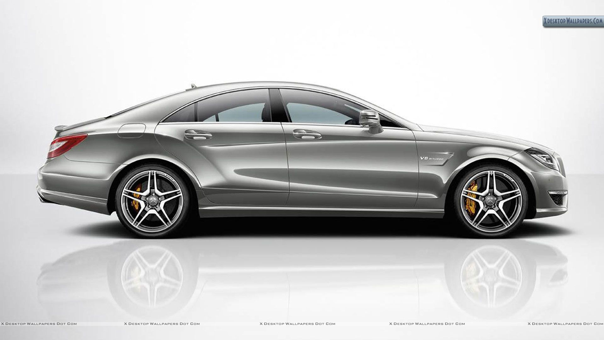 Silver 2012 mercedes benz cls63 amg side pose wallpaper for Mercedes benz silver