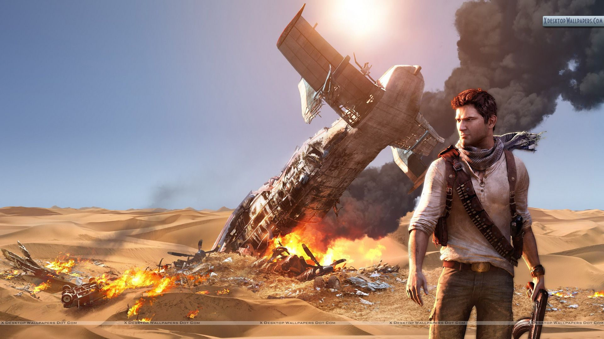 Uncharted 3 Drakes Deception Poster Wallpaper