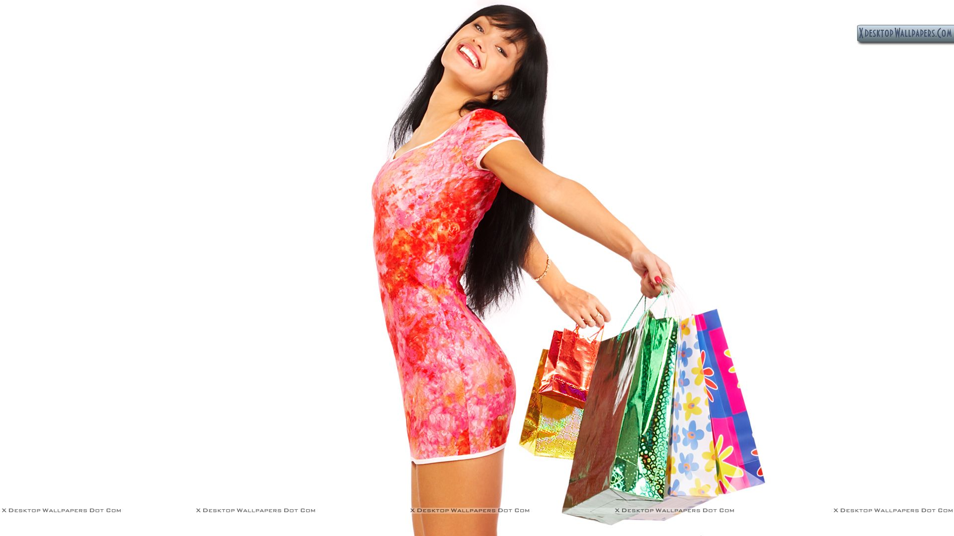 You Are Viewing Wallpaper Titled Lady With Shopping Bags
