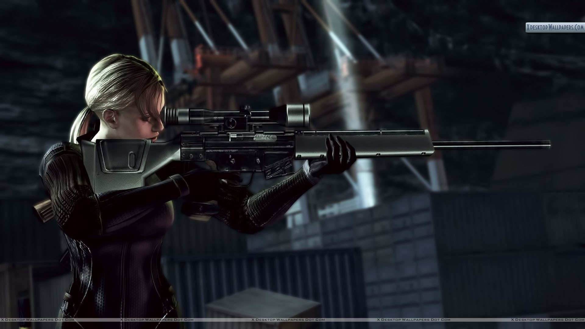 You Are Viewing Wallpaper Titled Jill With Sniper Rifle