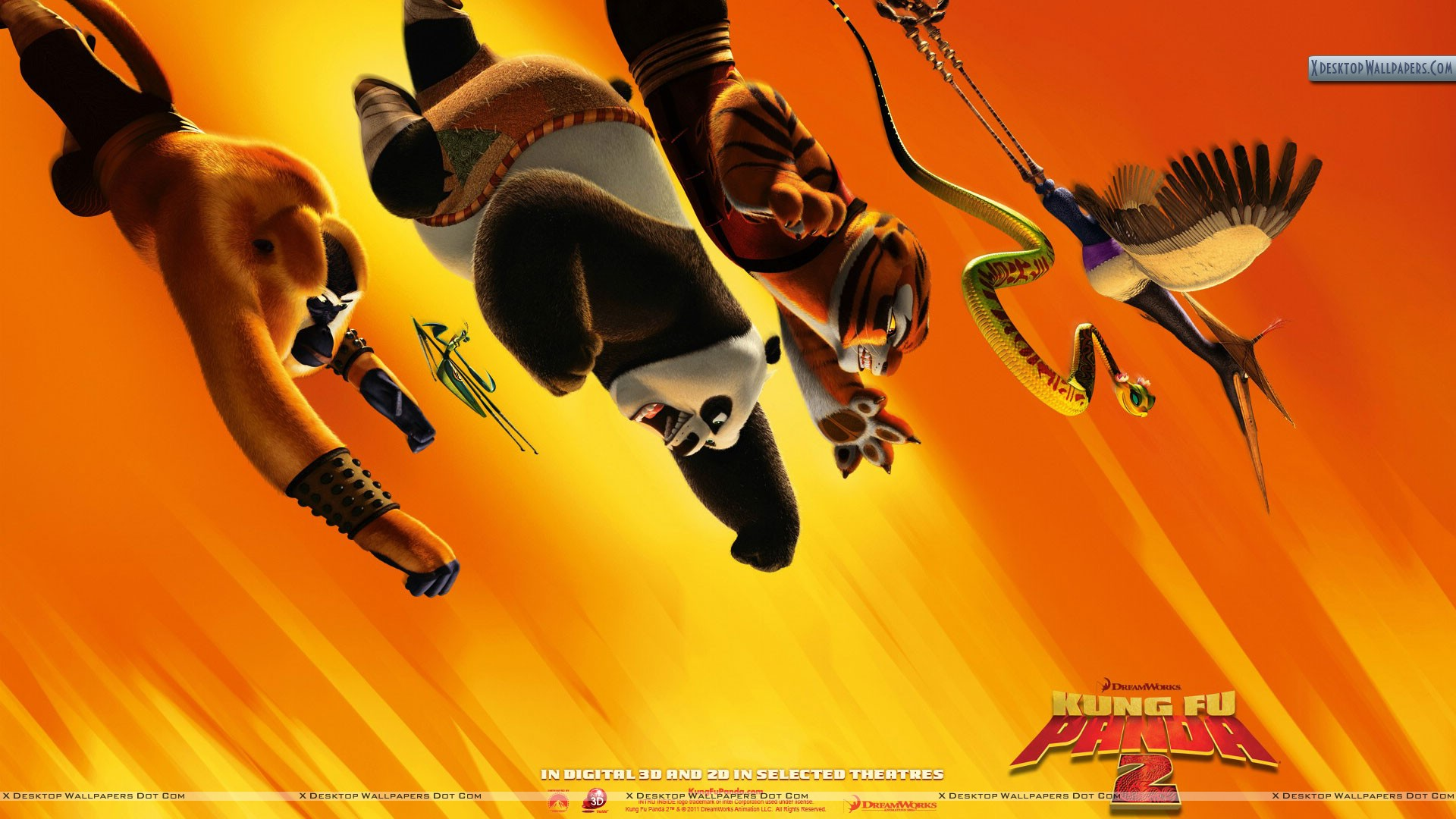 kung fu panda 2 all flying wallpaper
