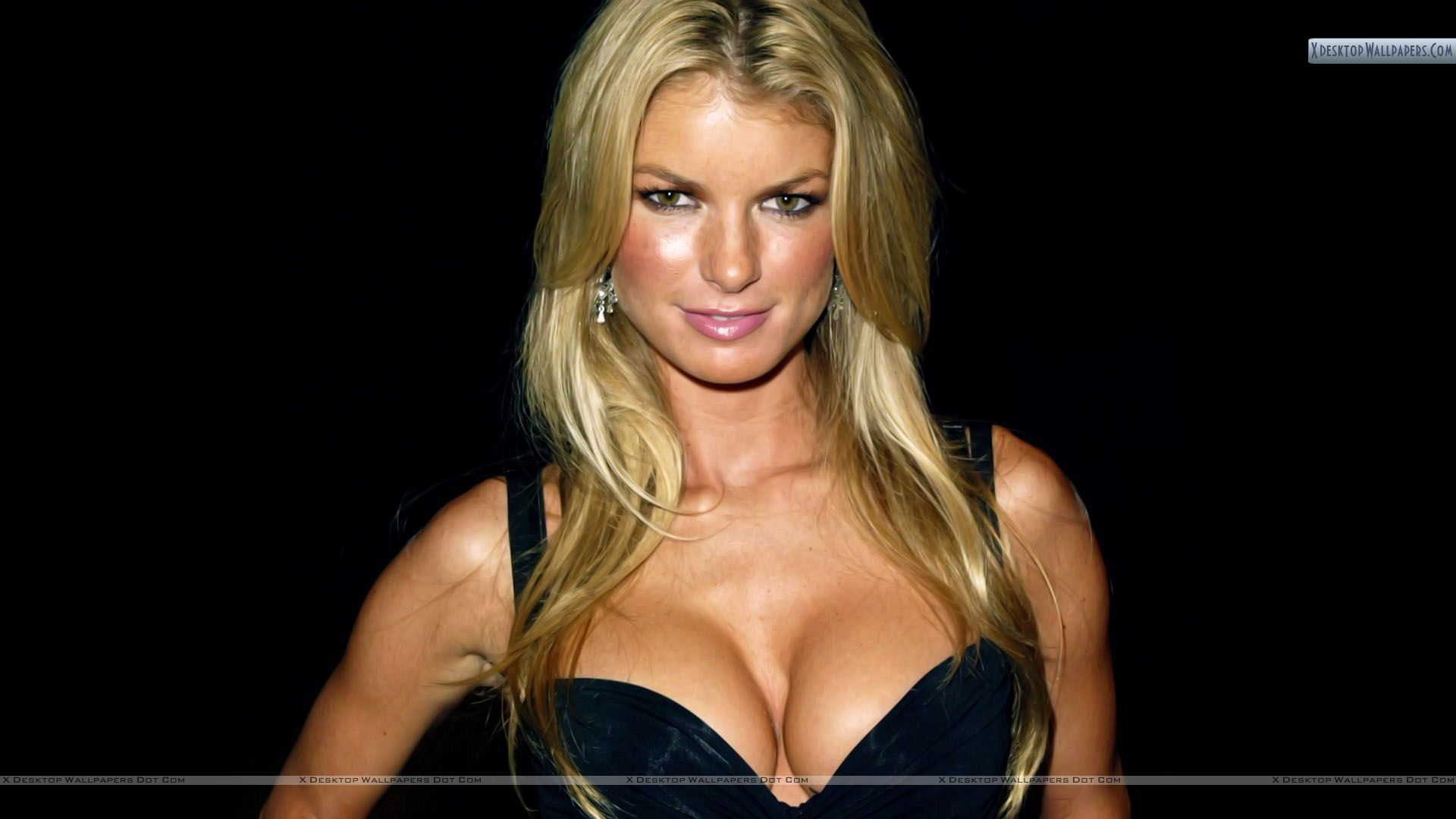 marisa miller in black top wallpaper