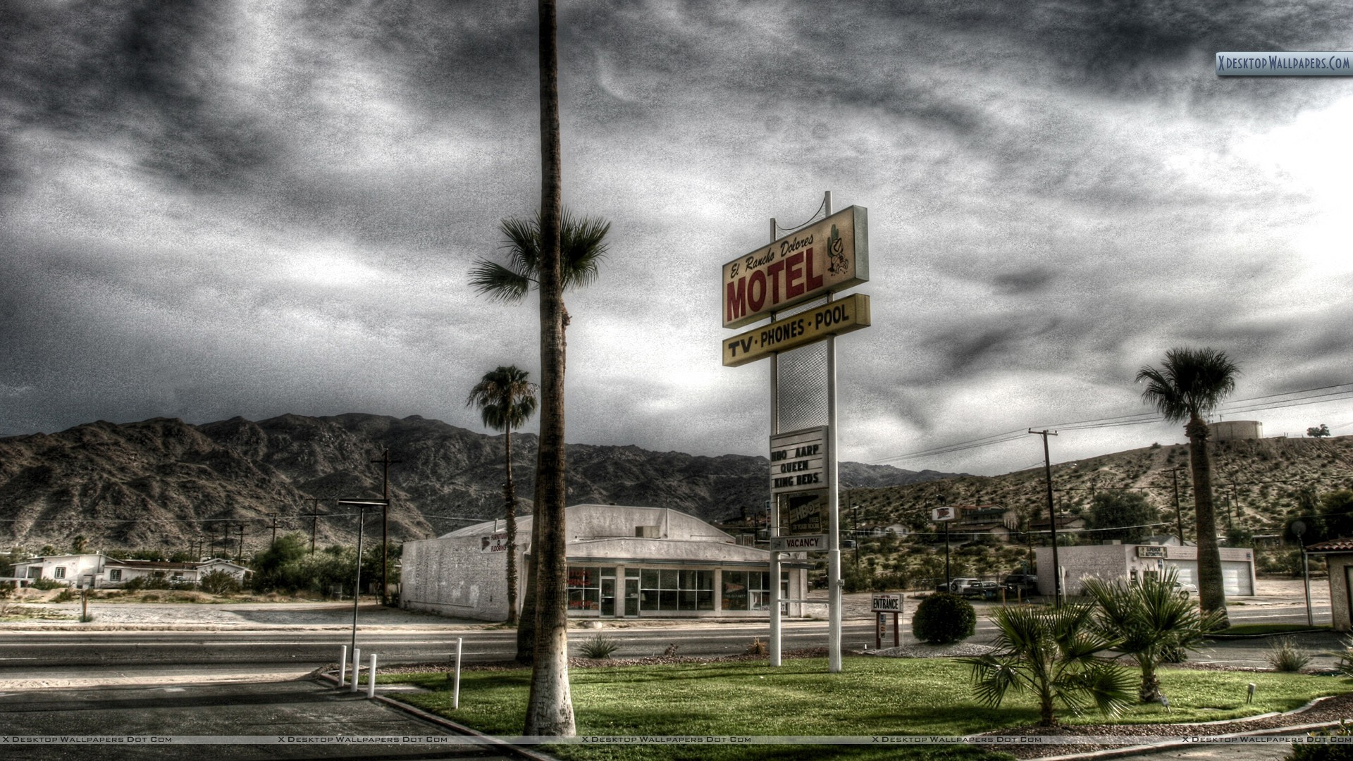 A Motel At Highway Wallpaper