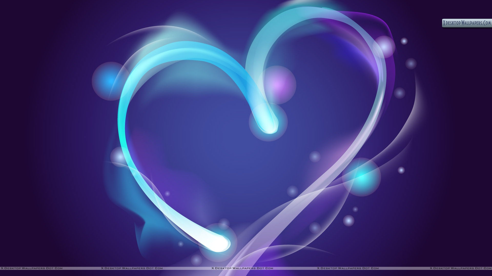 blue line abstract heart wallpaper