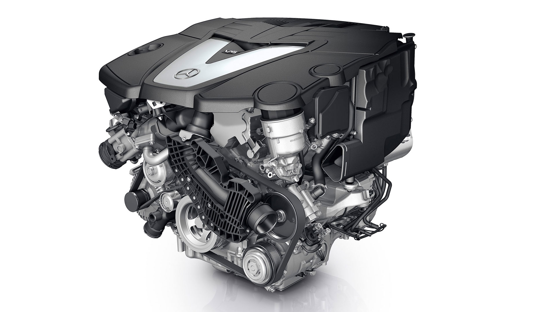 Mercedes benz s350 engine closeup wallpaper for Mercedes benz diesel engines