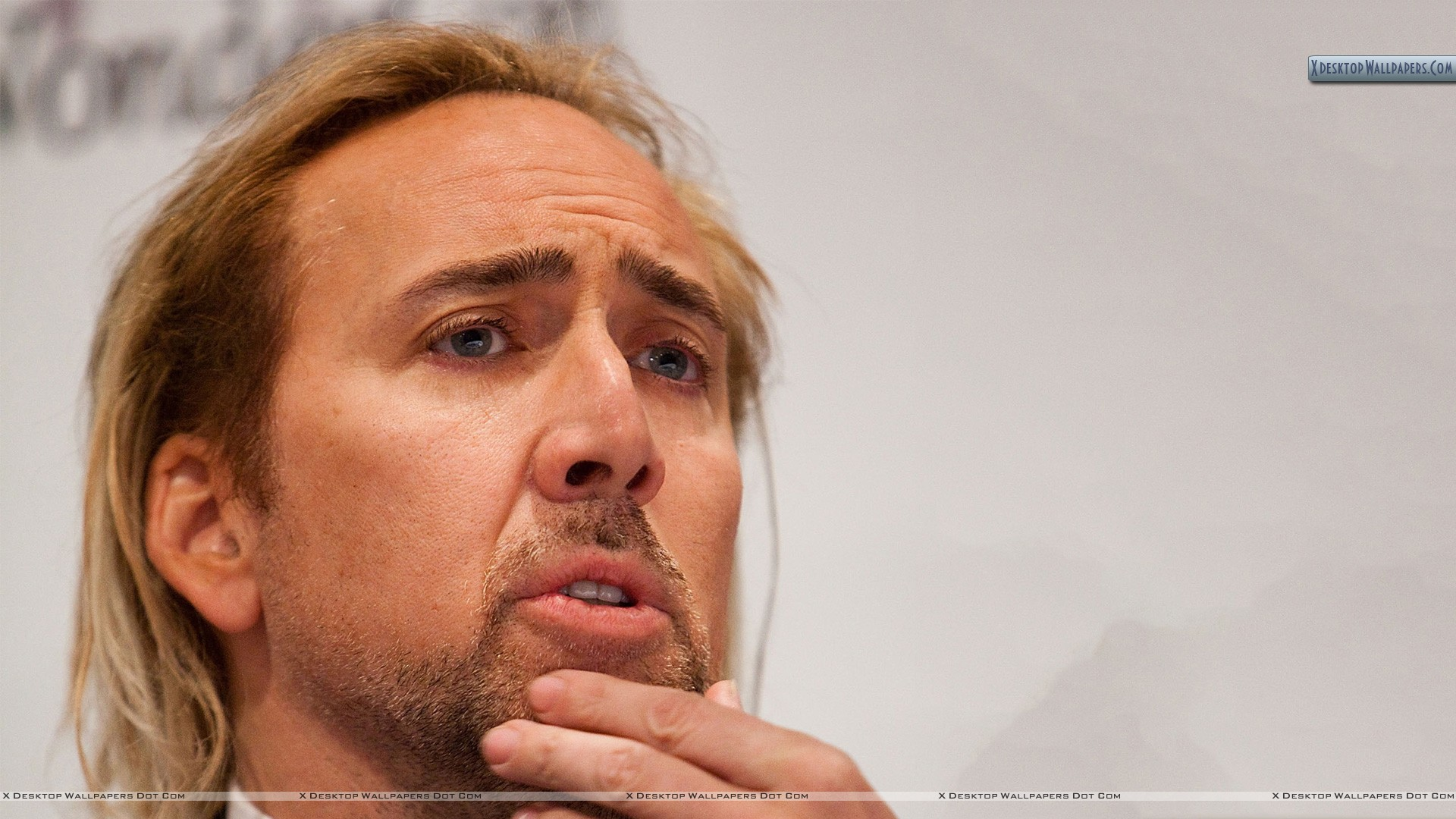 Nicolas Cage Thinking Something