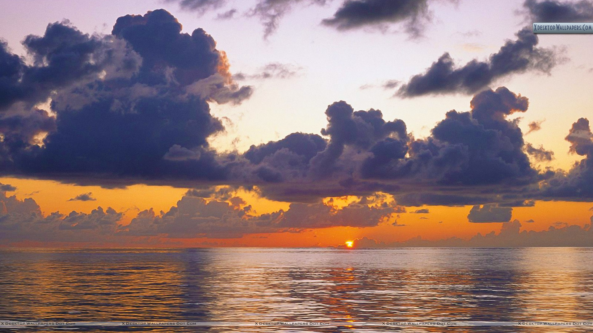 sunset clouds and ocean wallpaper - photo #11