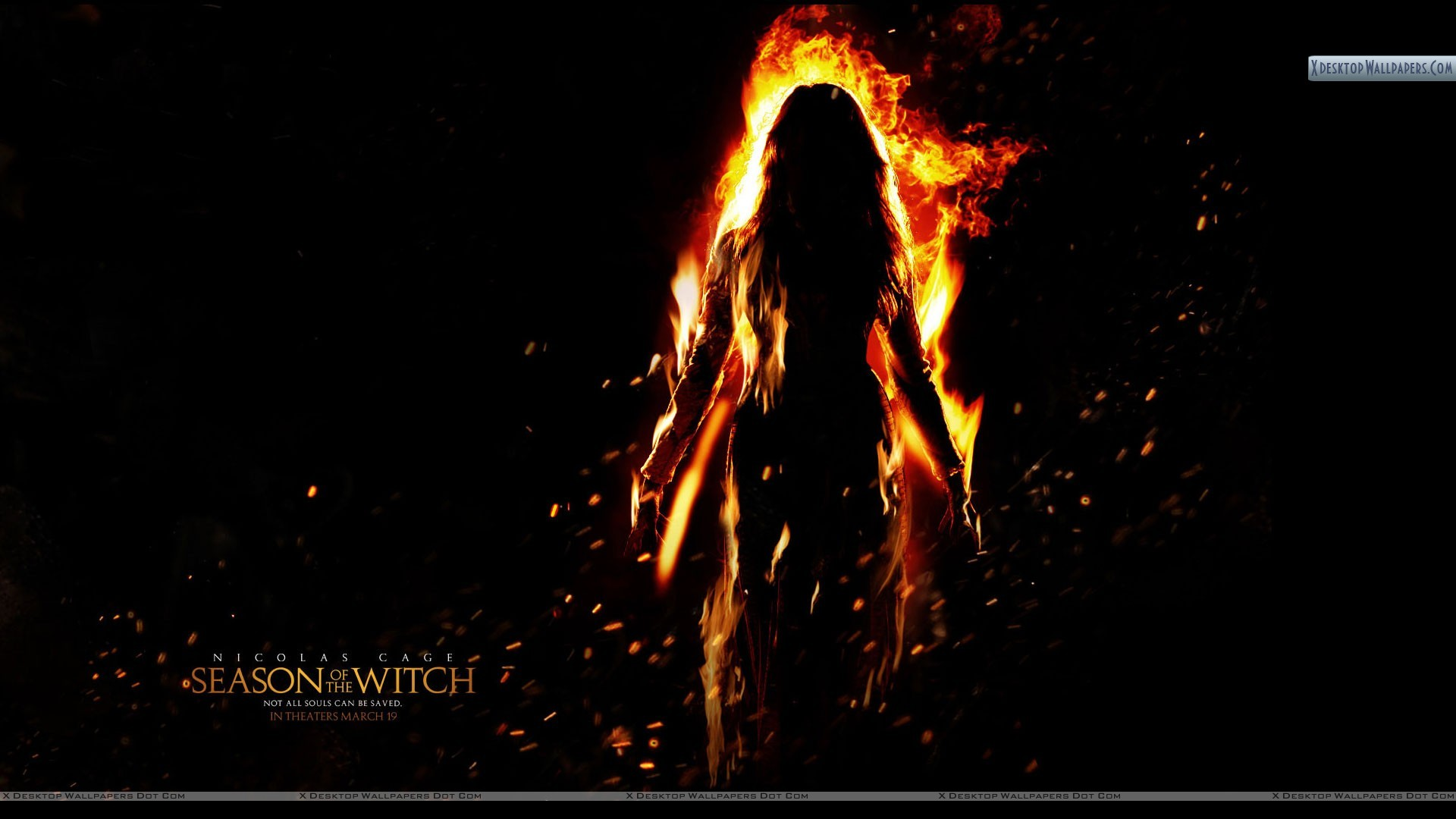 Season Of The Witch Burning Witch Wallpaper