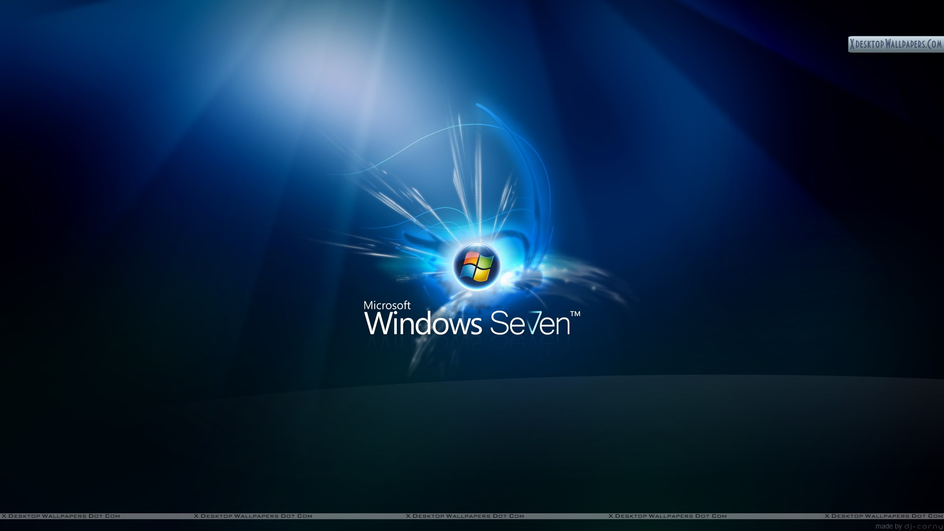 You Are Viewing Wallpaper Titled Windows 7 On Dark Blue