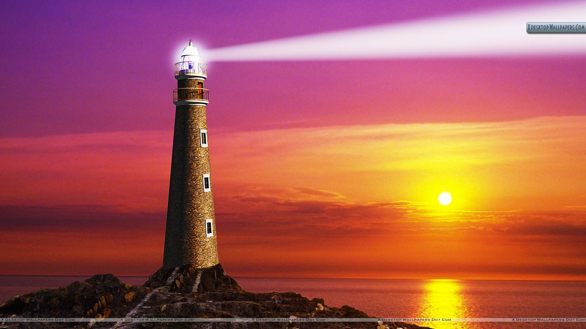 the coastal light house wallpaper