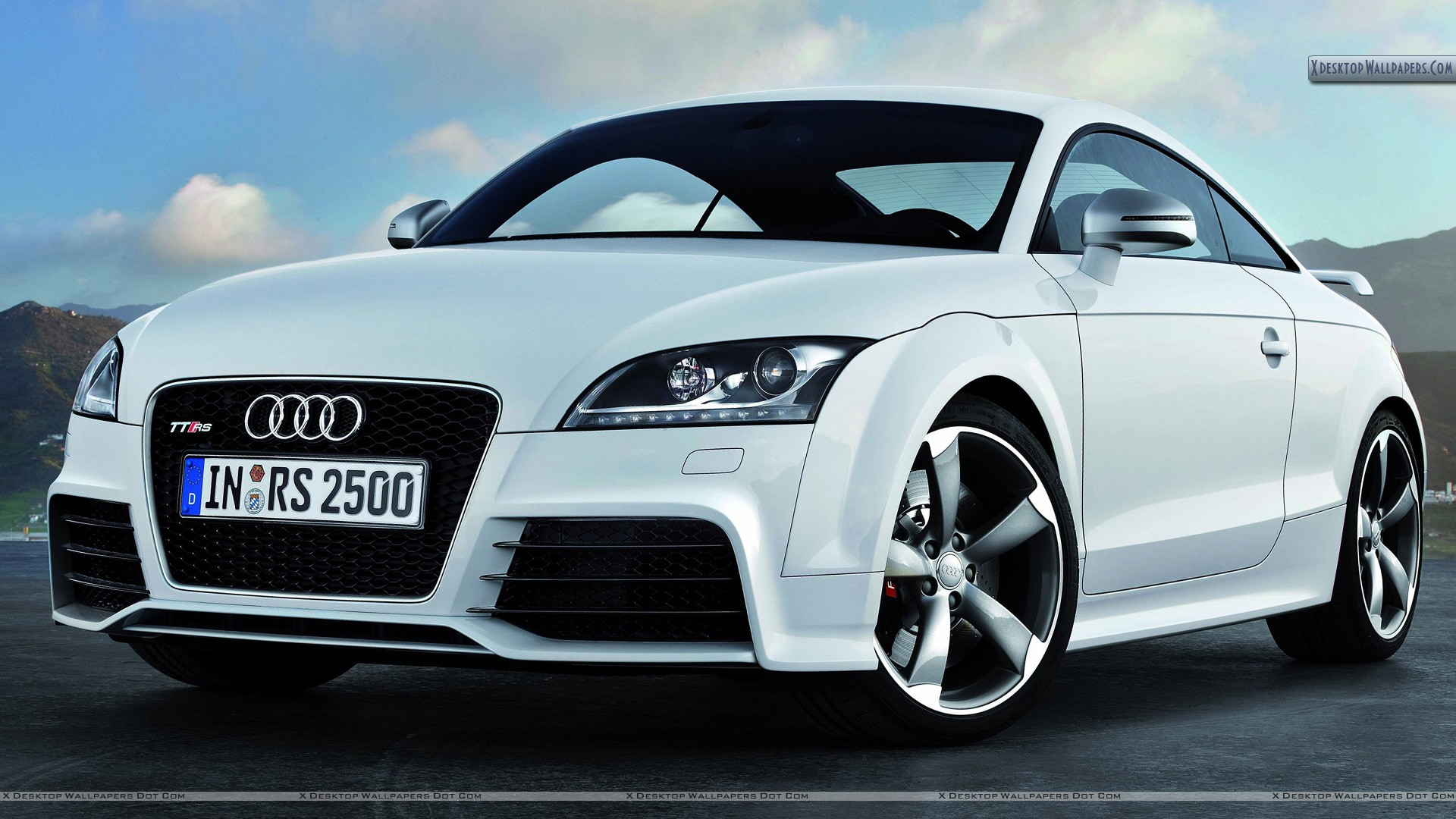 Audi Tt Rs White Color Front Pose Wallpaper Pin Dots Desktop On Pinterest You Are Viewing