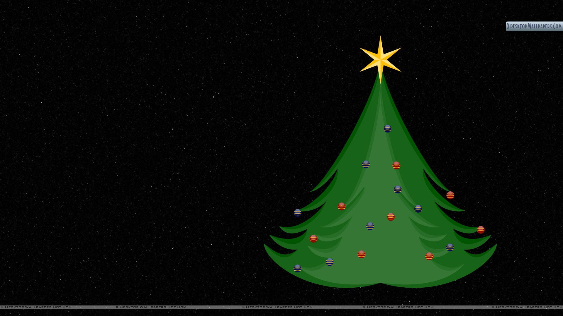 You Are Viewing Wallpaper Titled Christmas Tree With Black