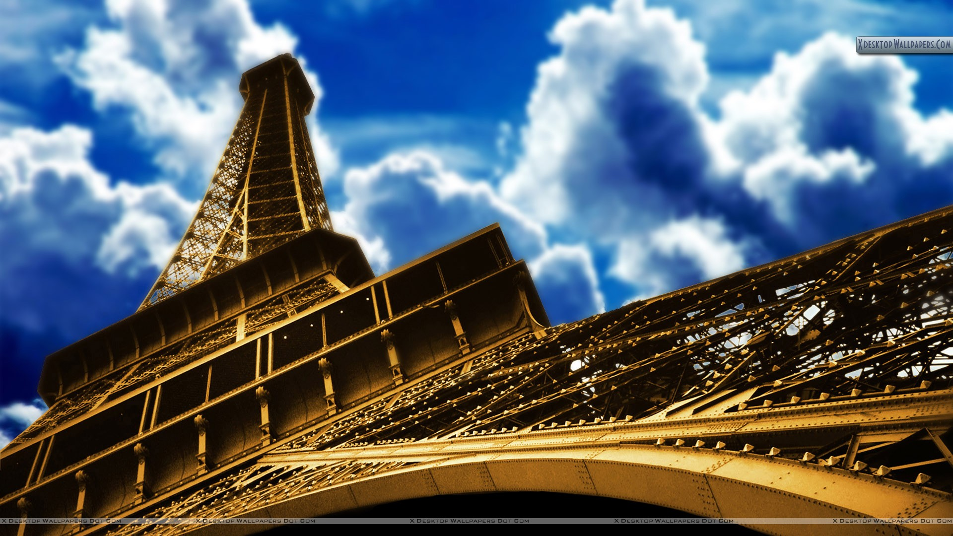 Eiffel Tower Paris Closeup Picture Wallpaper