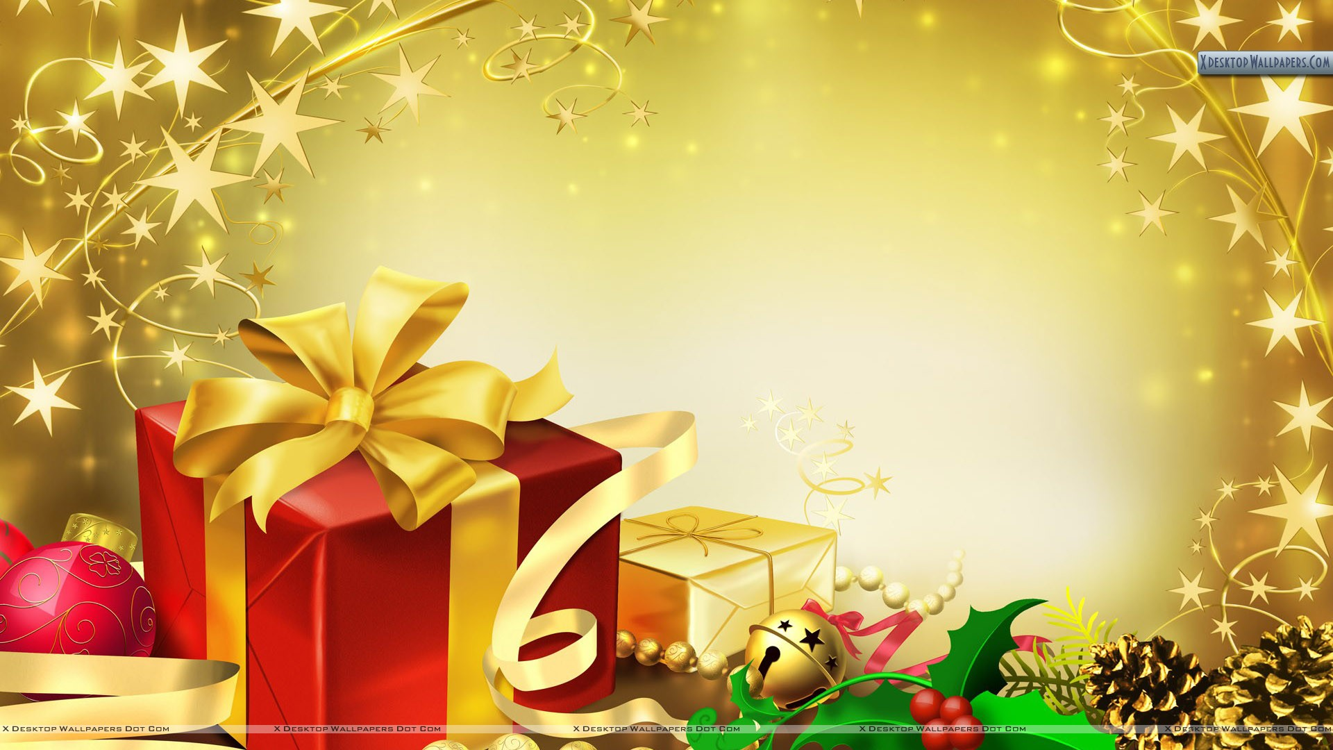 Gifts Packets At Christmas Eve Wallpaper