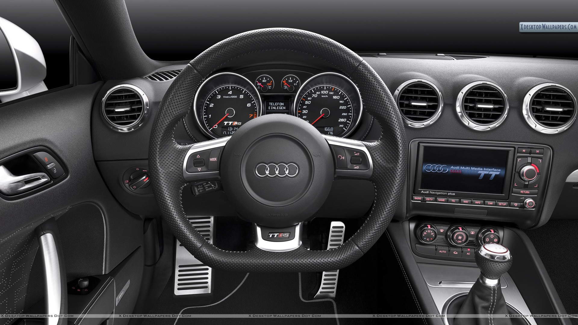 interior dashboard of audi tt rs wallpaper. Black Bedroom Furniture Sets. Home Design Ideas