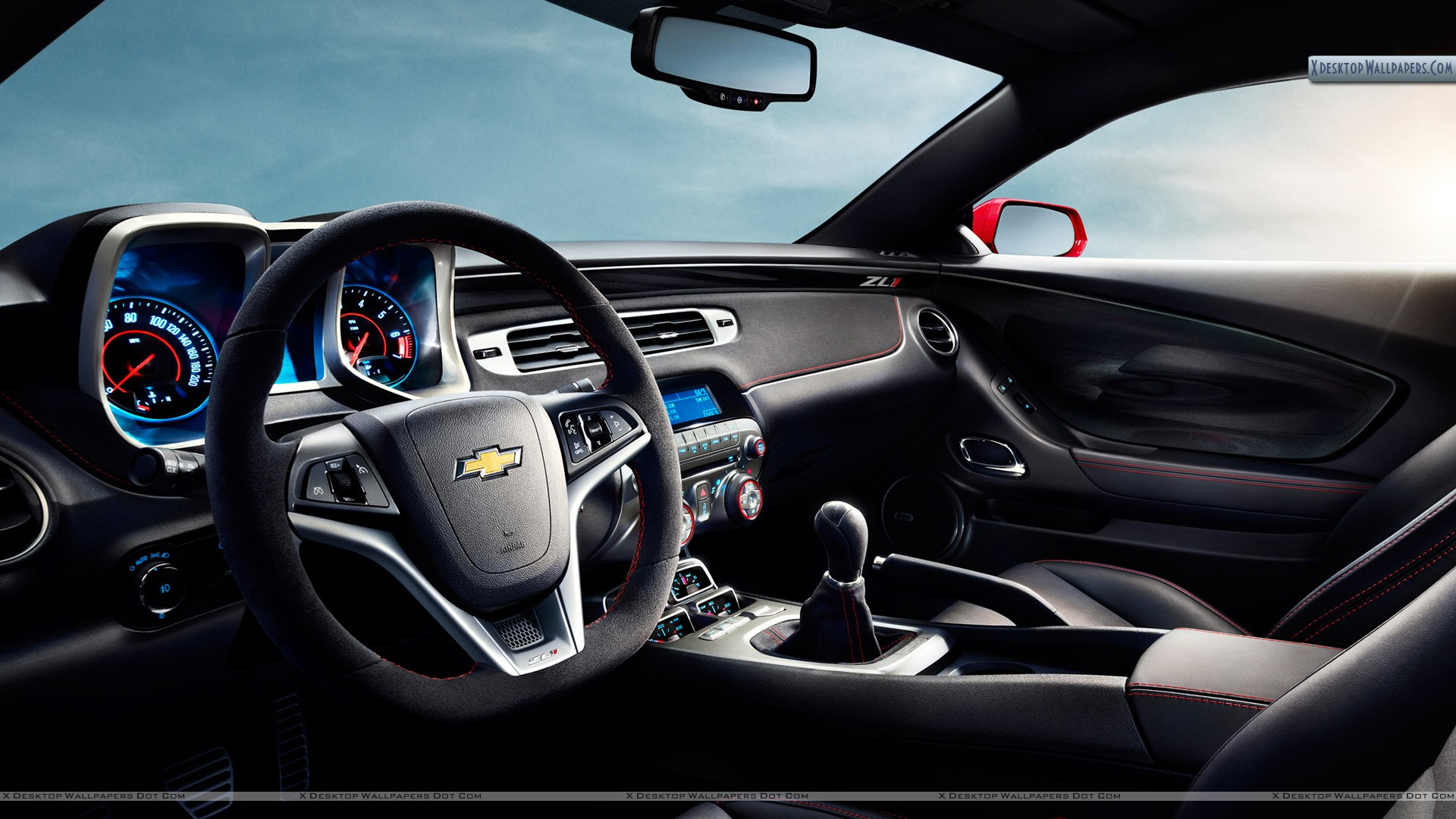 Interior Dashboard Of Chevrolet Camaro Zl1 Wallpaper