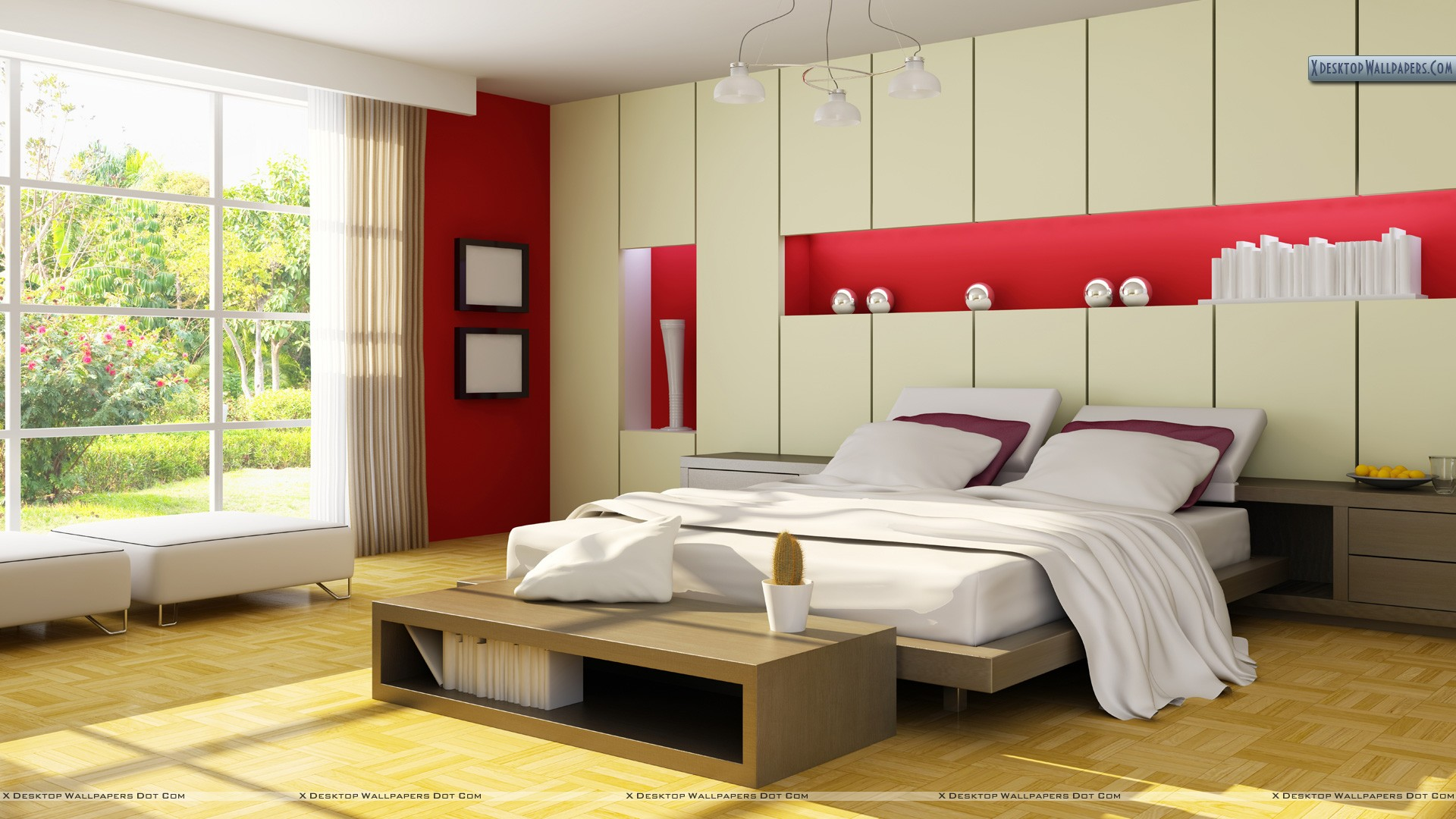Lovely red bedroom wallpaper for Red bedroom wallpaper