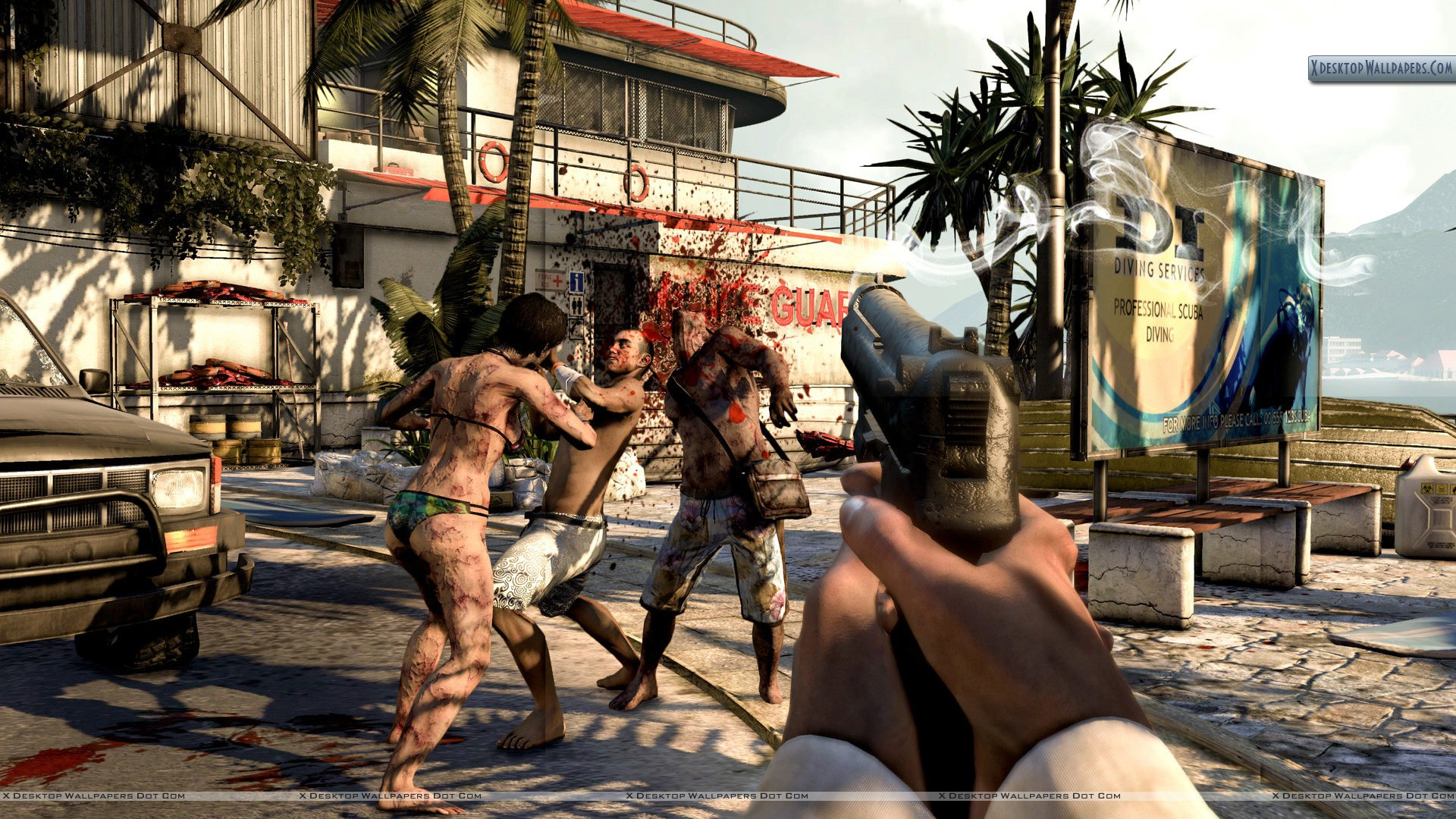 Dead island what a head shot wallpaper you are viewing wallpaper titled dead island voltagebd Choice Image