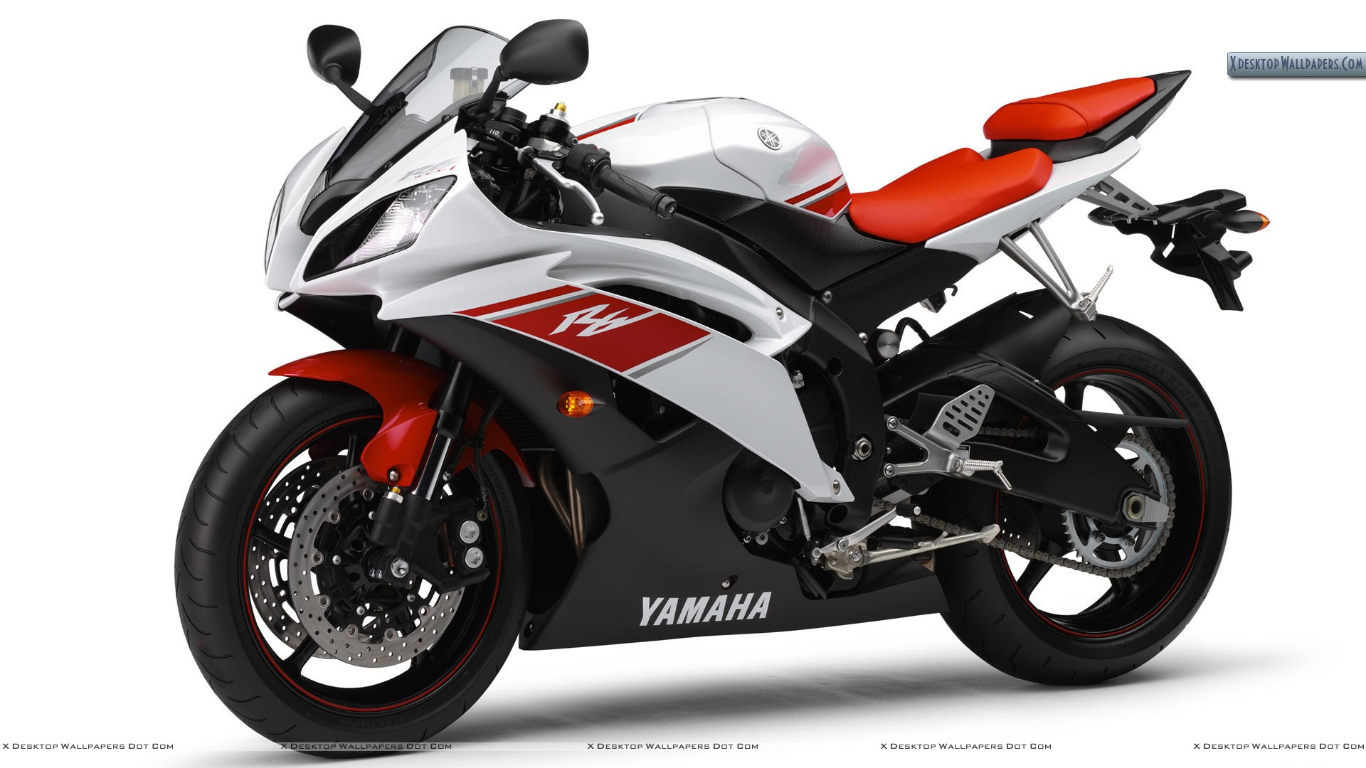 Yamaha YZF R6     White Red ColorYamaha R6 White And Red
