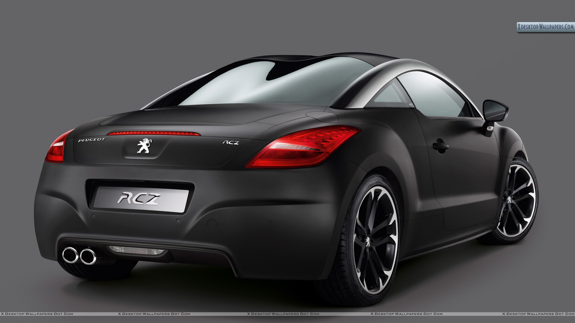 2010 peugeot rcz asphalt back pose in black color wallpaper. Black Bedroom Furniture Sets. Home Design Ideas