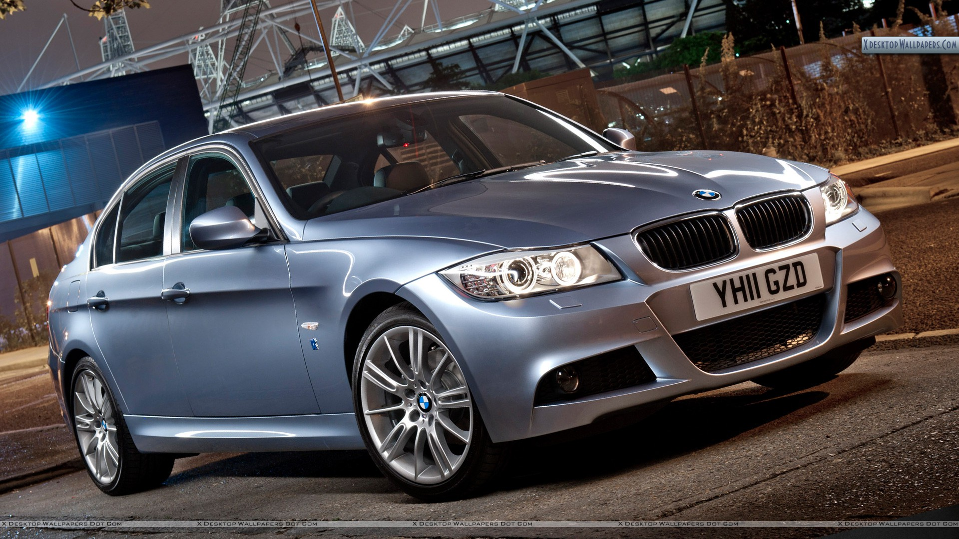2012 Bmw 3 Series Performance Edition Side Front In Silver Wallpaper