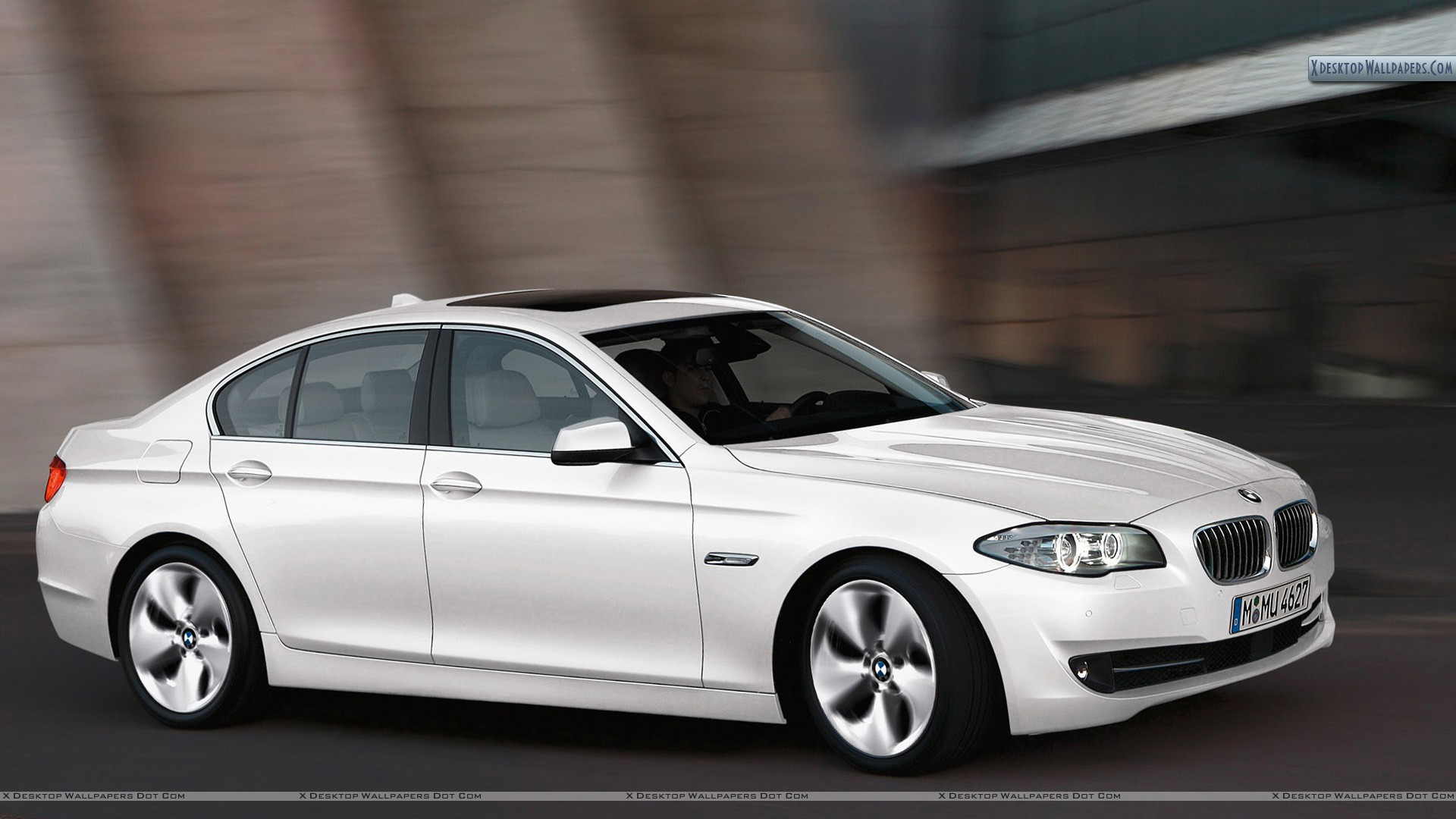 2012 BMW 520D Efficient Dynamics Edition In White Color Wallpaper