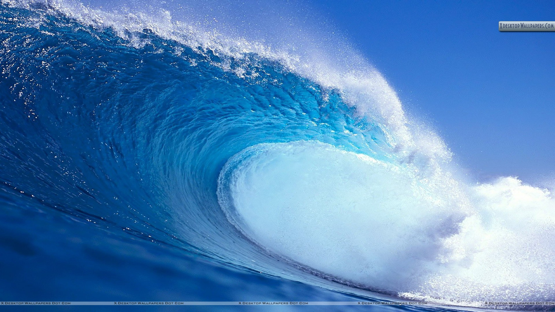 blue water waves wallpaper