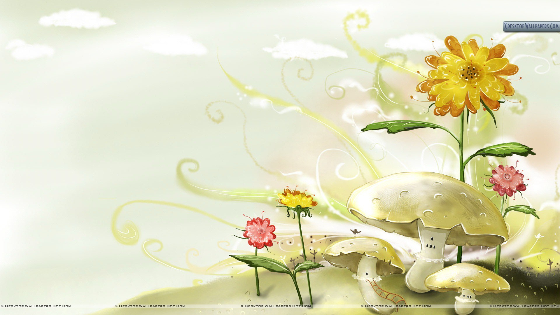 flowers draw & designinghand wallpaper