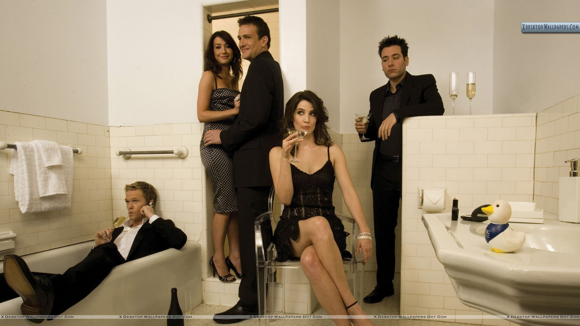 How i met your mother photoshoot in bathroom wallpaper for Bathroom photoshoots