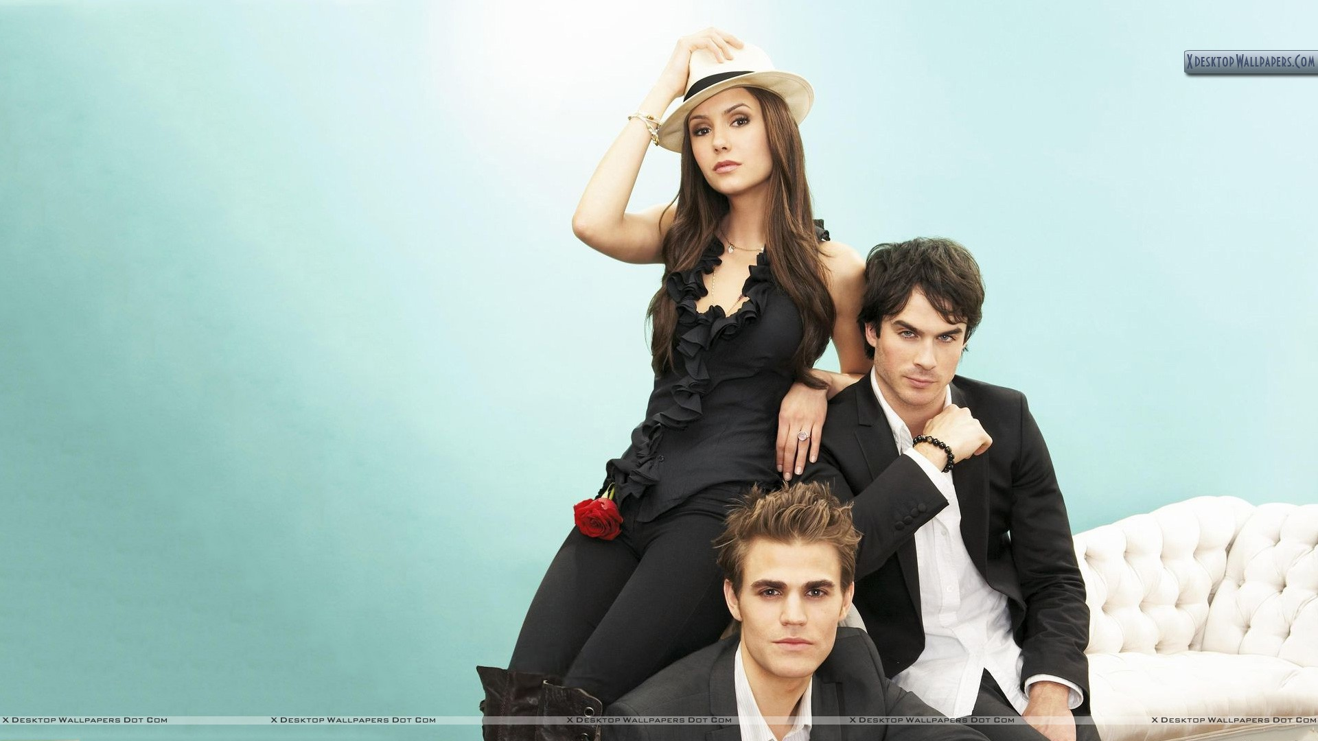 Paul Wesley And Nina Dobrev Wallpaper
