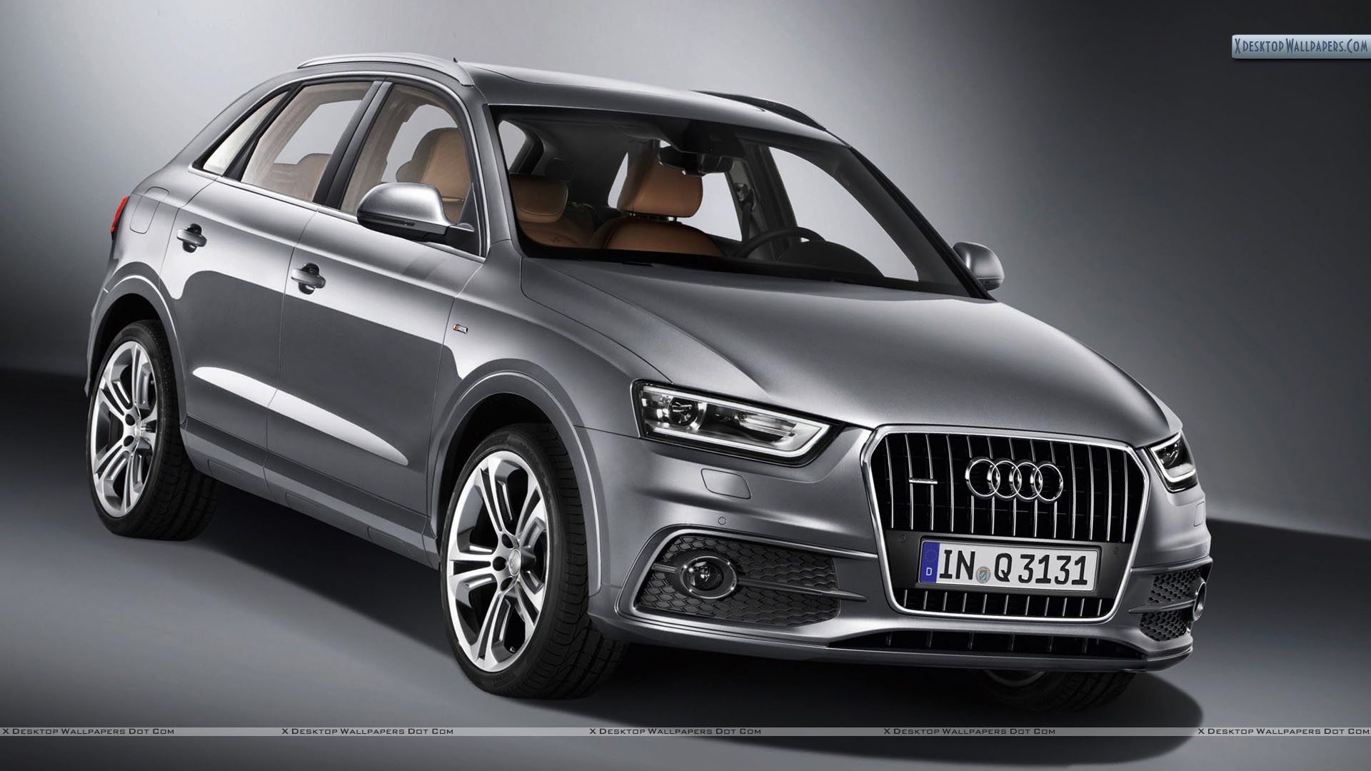 2012 audi q3 quattro s line front pose in metalic grey. Black Bedroom Furniture Sets. Home Design Ideas