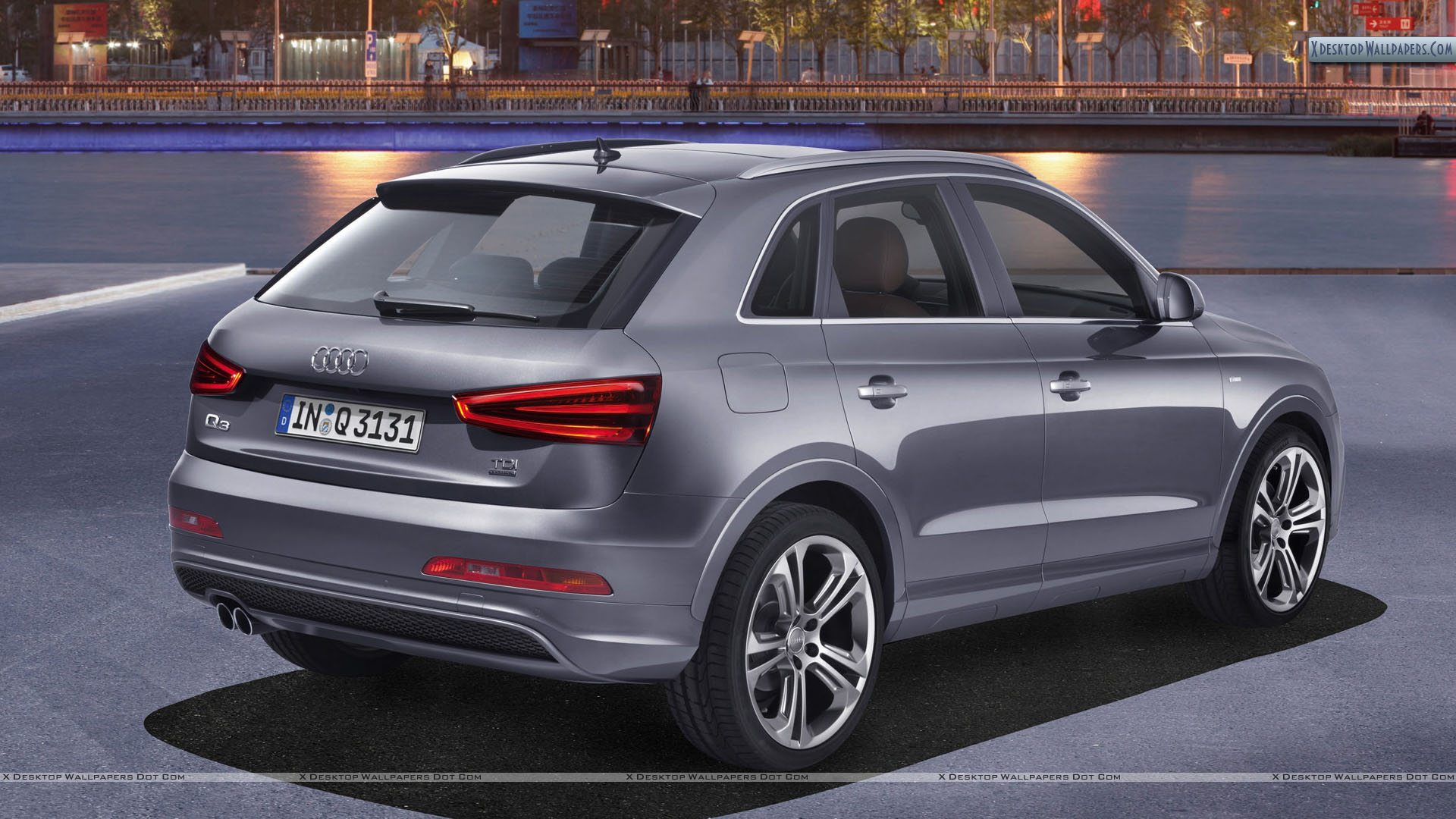 2012 audi q3 quattro s line silver color parked wallpaper. Black Bedroom Furniture Sets. Home Design Ideas