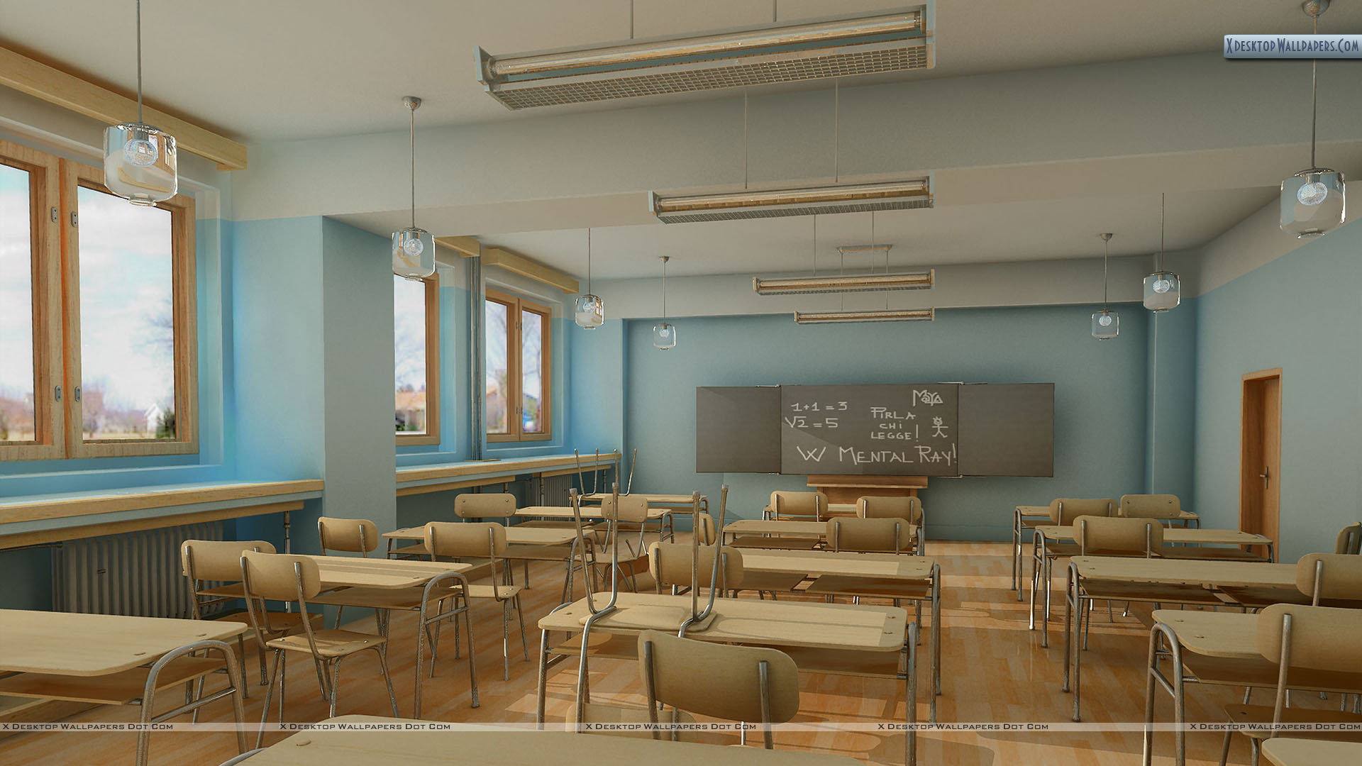 Free class room wallpaper for Room free