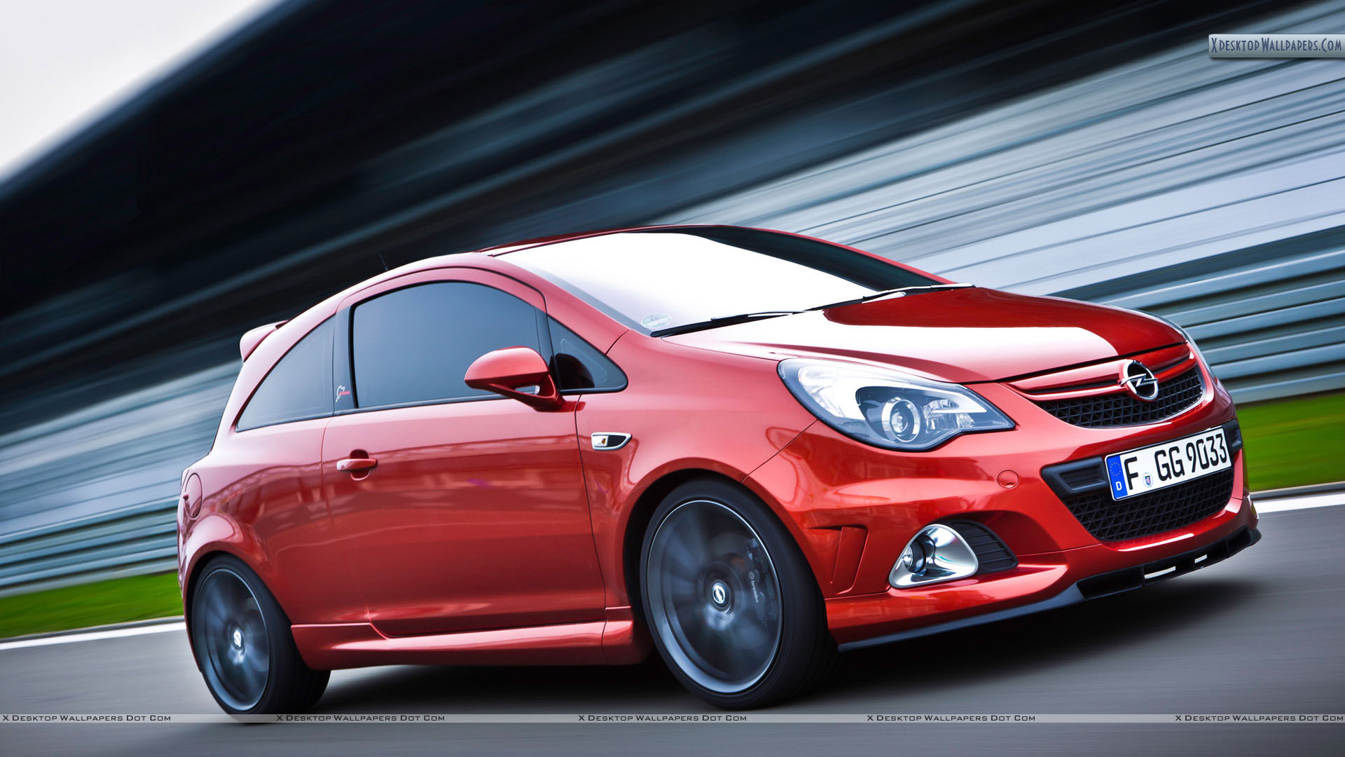 opel corsa opc nurburgring edition red color side pose wallpaper. Black Bedroom Furniture Sets. Home Design Ideas