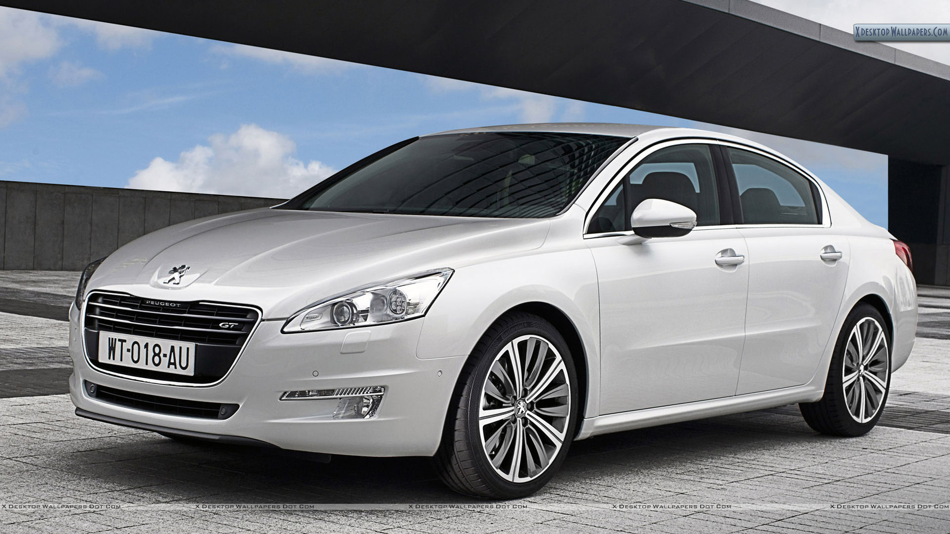 Peugeot 508 saloon white color front side wallpaper for Photo peugeot 508