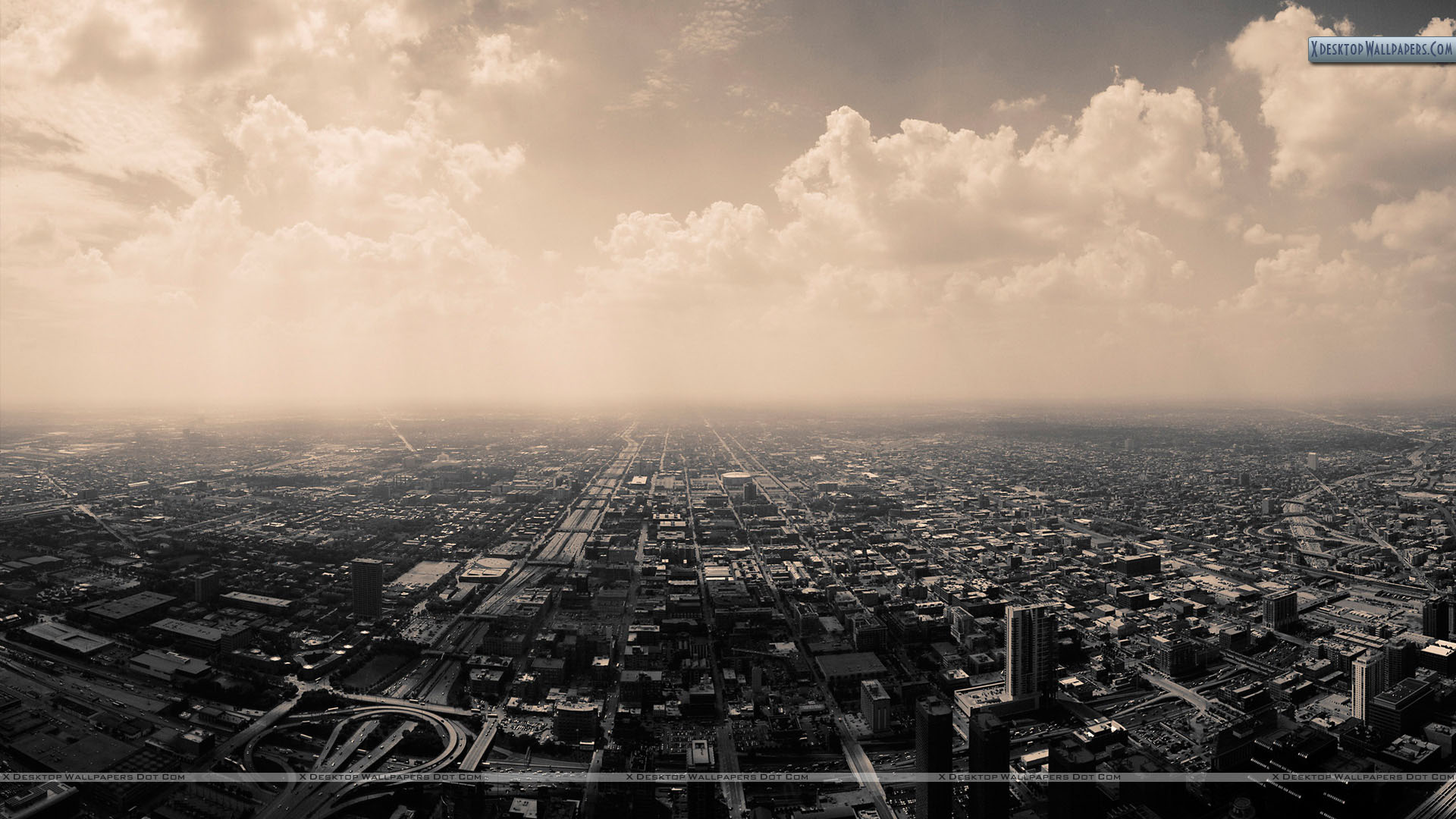 You Are Viewing Wallpaper Titled Top View Of Black White City