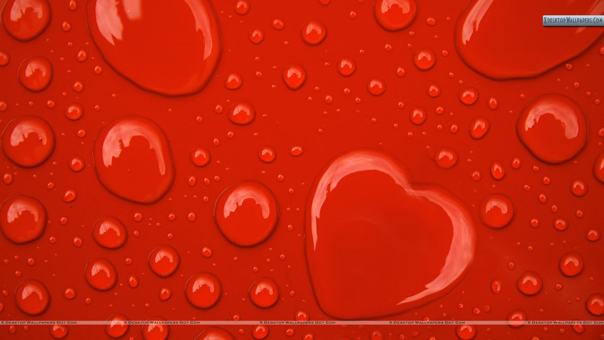 You Are Viewing Wallpaper Titled Water Drop Hearts On Red