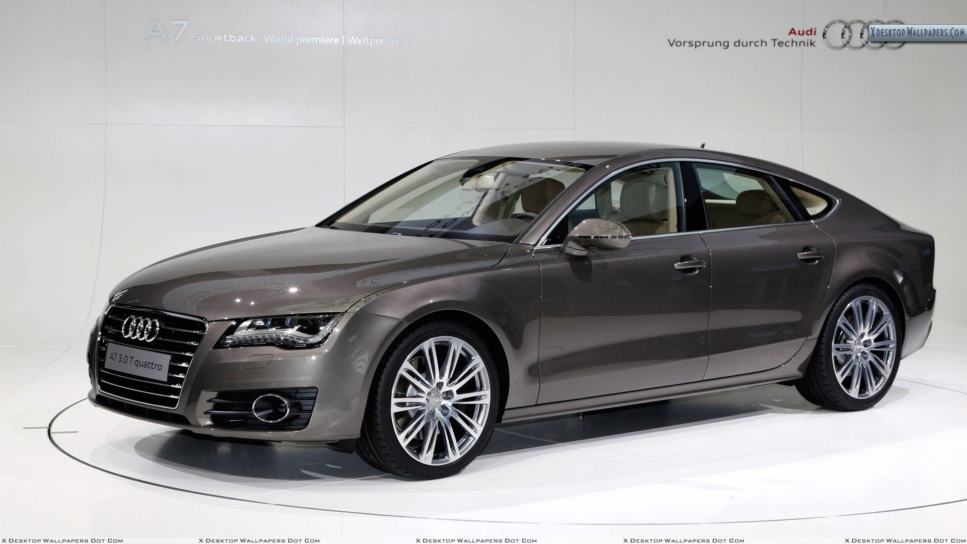 2011 audi a7 sportback side pose in brown wallpaper. Black Bedroom Furniture Sets. Home Design Ideas