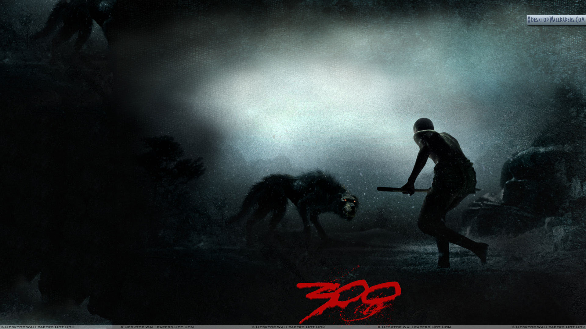 300 hunting the wolf wallpaper