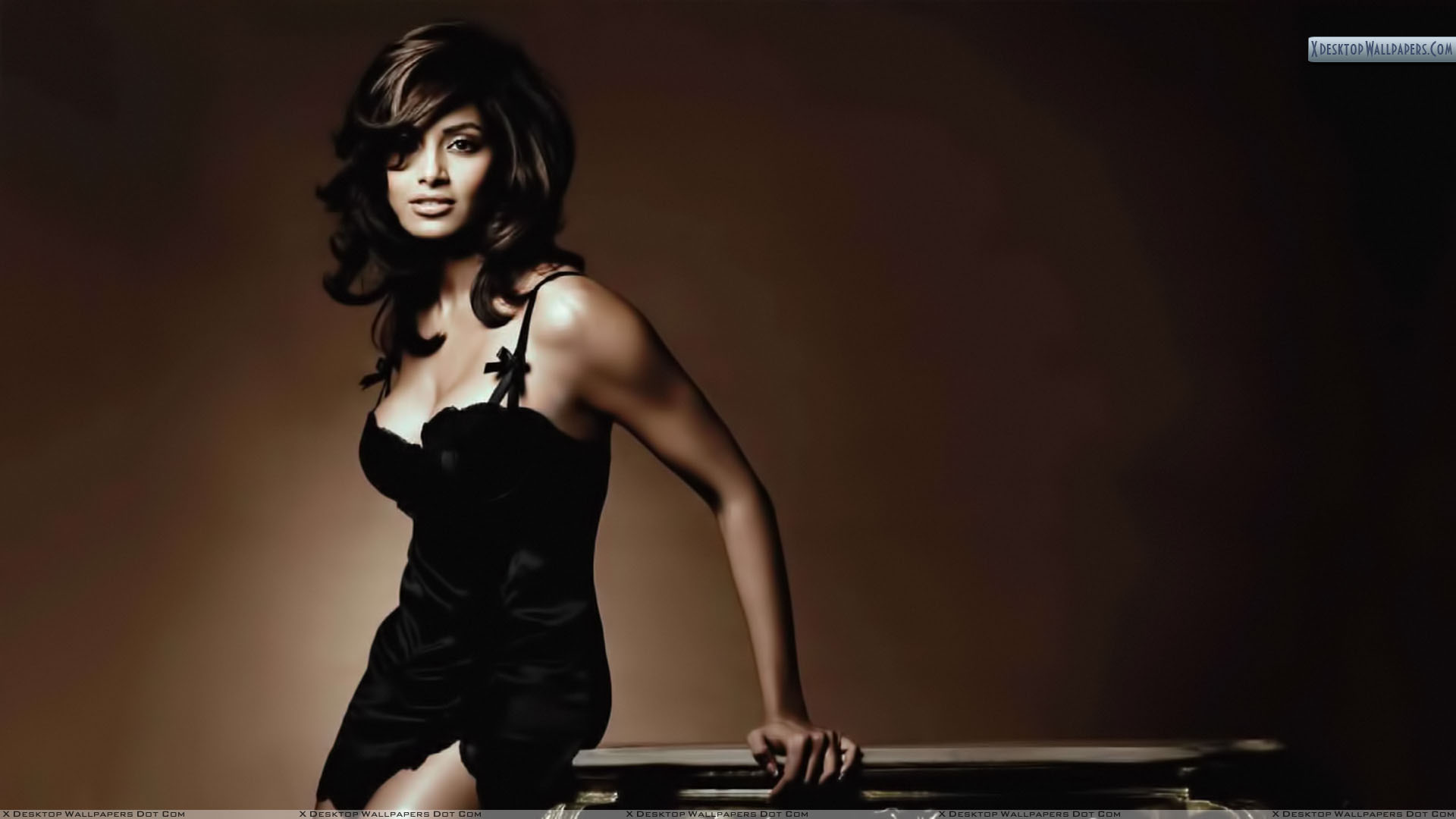 bipasha basu in black dress photoshoot wallpaper