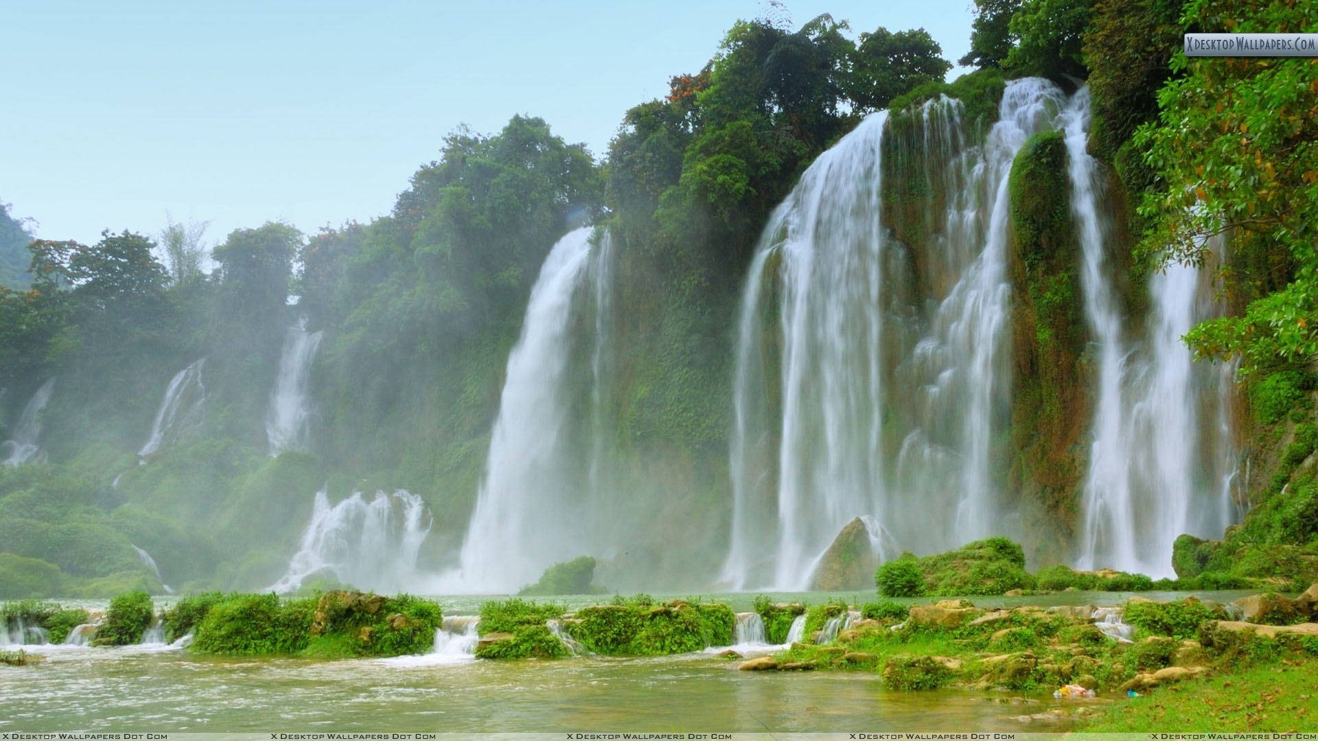 detian ban gioc falls soothing picture wallpaper